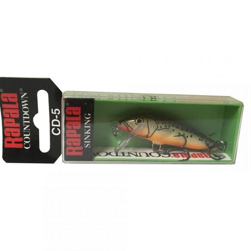Rapala Countdown Sinking CD05 RFSM Redfin Spooted Minow