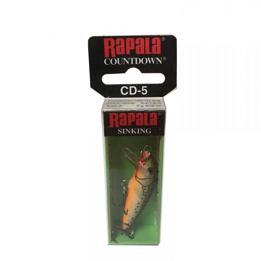 Rapala Countdown Sinking CD05 RFSM Redfin Spooted Minow [1]