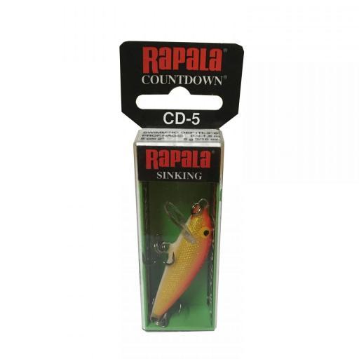 Rapala Countdown Sinking CD05 GFR Gold Fi Red [1]