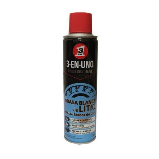 Grasa blanca de litio  en Spray 3-En-Uno 200ml