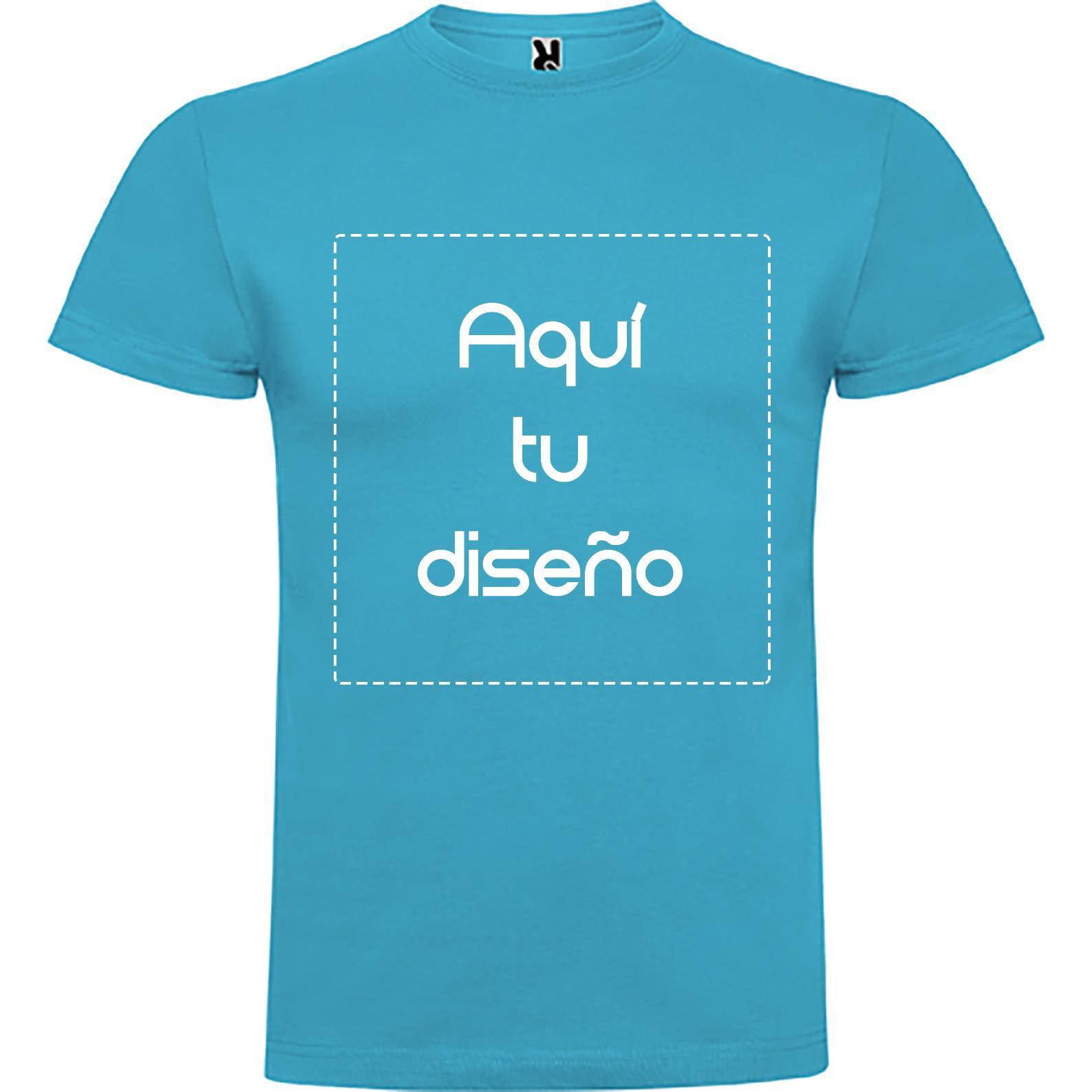 Camiseta azul turquesa
