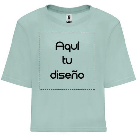 Camiseta Dominica azul lavado