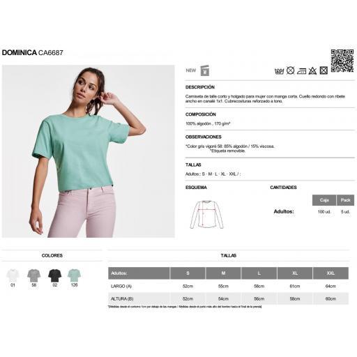 Camiseta Dominica gris vigoré [1]