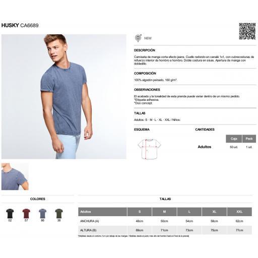 Camiseta vintage azul [2]