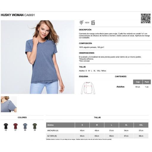 Camiseta vintage azul mujer [2]