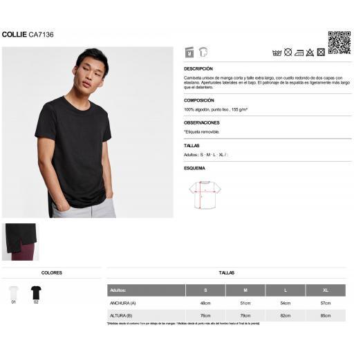 Camiseta negra faldón trasero largo [1]