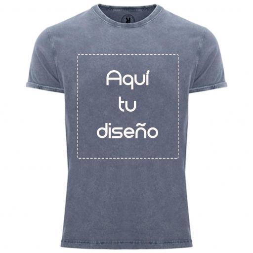 Camiseta vintage azul