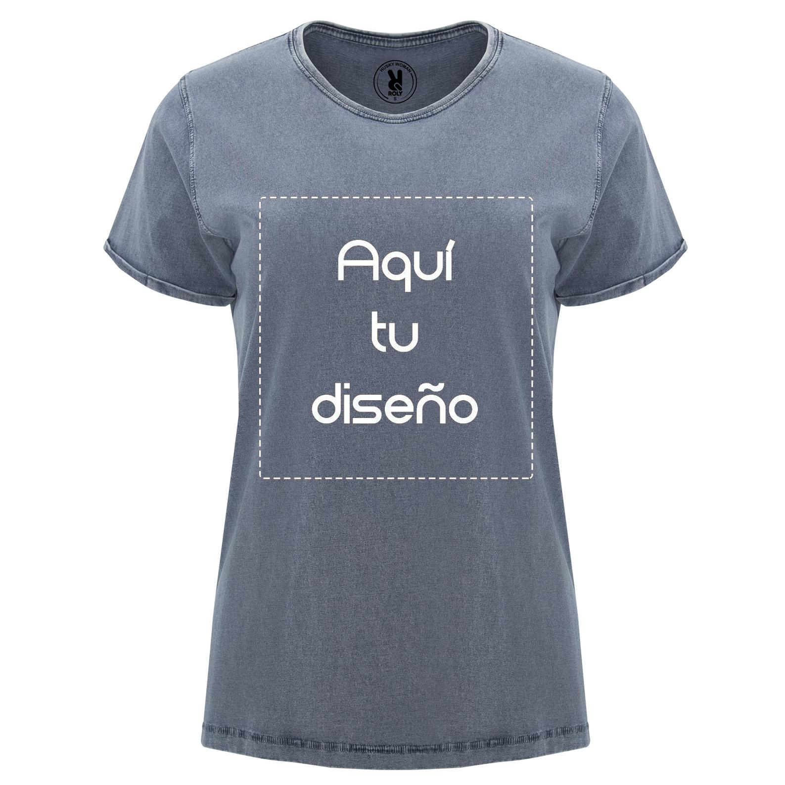 Camiseta vintage azul mujer