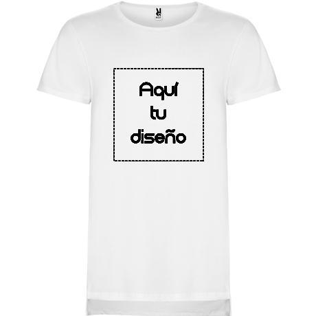 Camiseta blanca faldón trasero largo