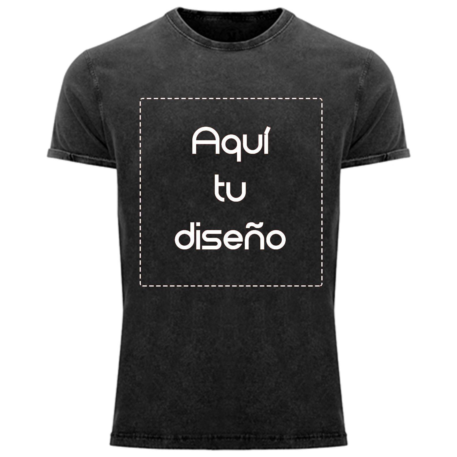 Camiseta vintage negra