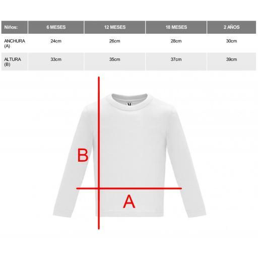 Camiseta blanca bebé manga larga [1]