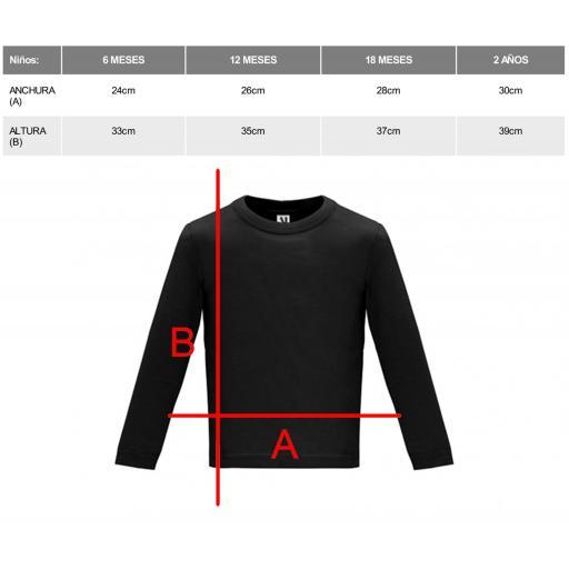 Camiseta negra bebé manga larga [1]