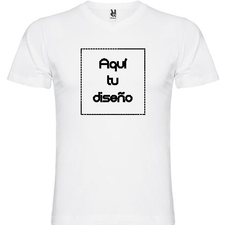 Camiseta blanca cuello pico