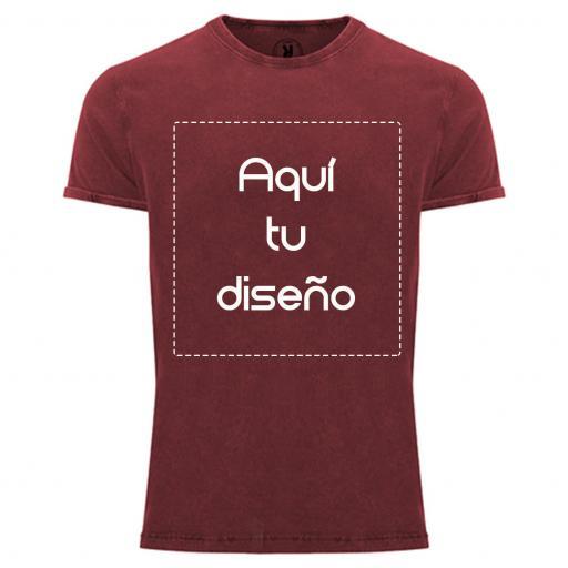 Camiseta vintage roja
