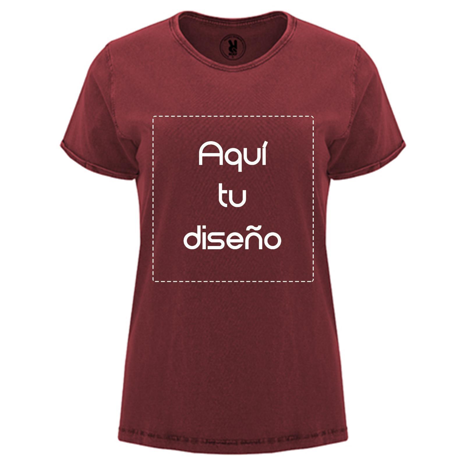 Camiseta vintage roja mujer