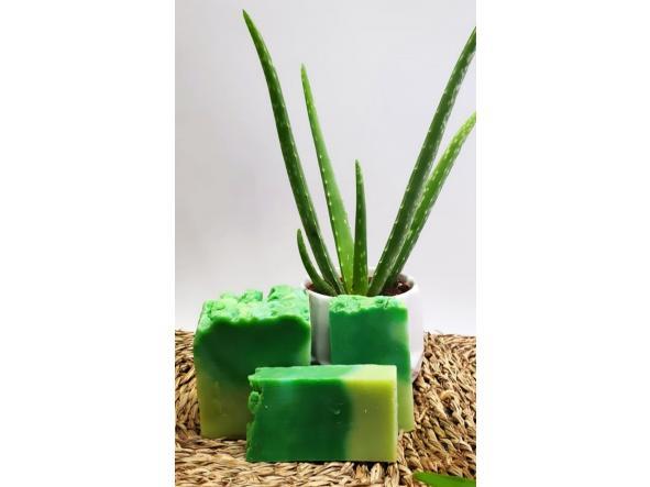 Jabón artesano Aloe vera  (2 piezas)