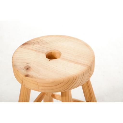 Taburete natural madera [2]