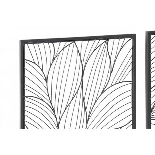 Decoración pared flor metal [1]