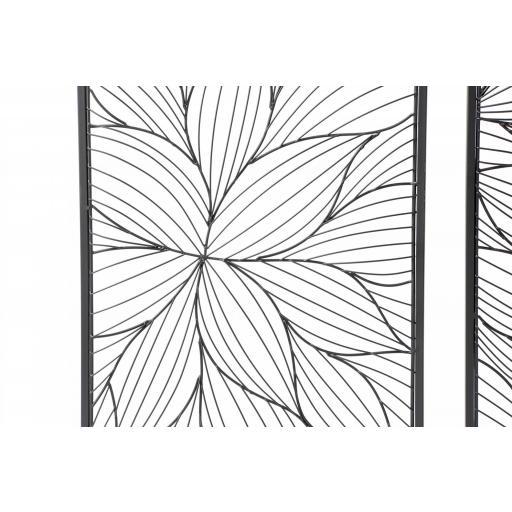 Decoración pared flor metal [2]