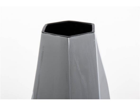 Jarrón cerámica lacada gris [1]
