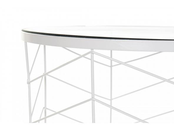 Set mesas auxiliares metal cristal geométrico [1]