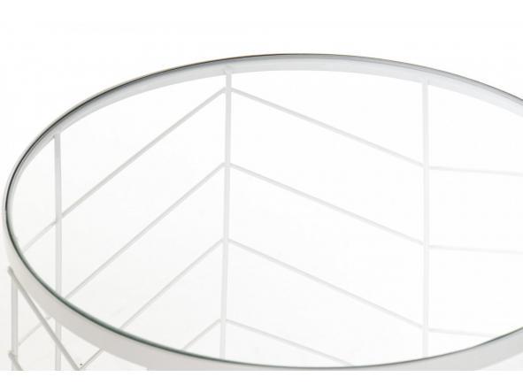 Set mesas auxiliares metal cristal geométrico [2]