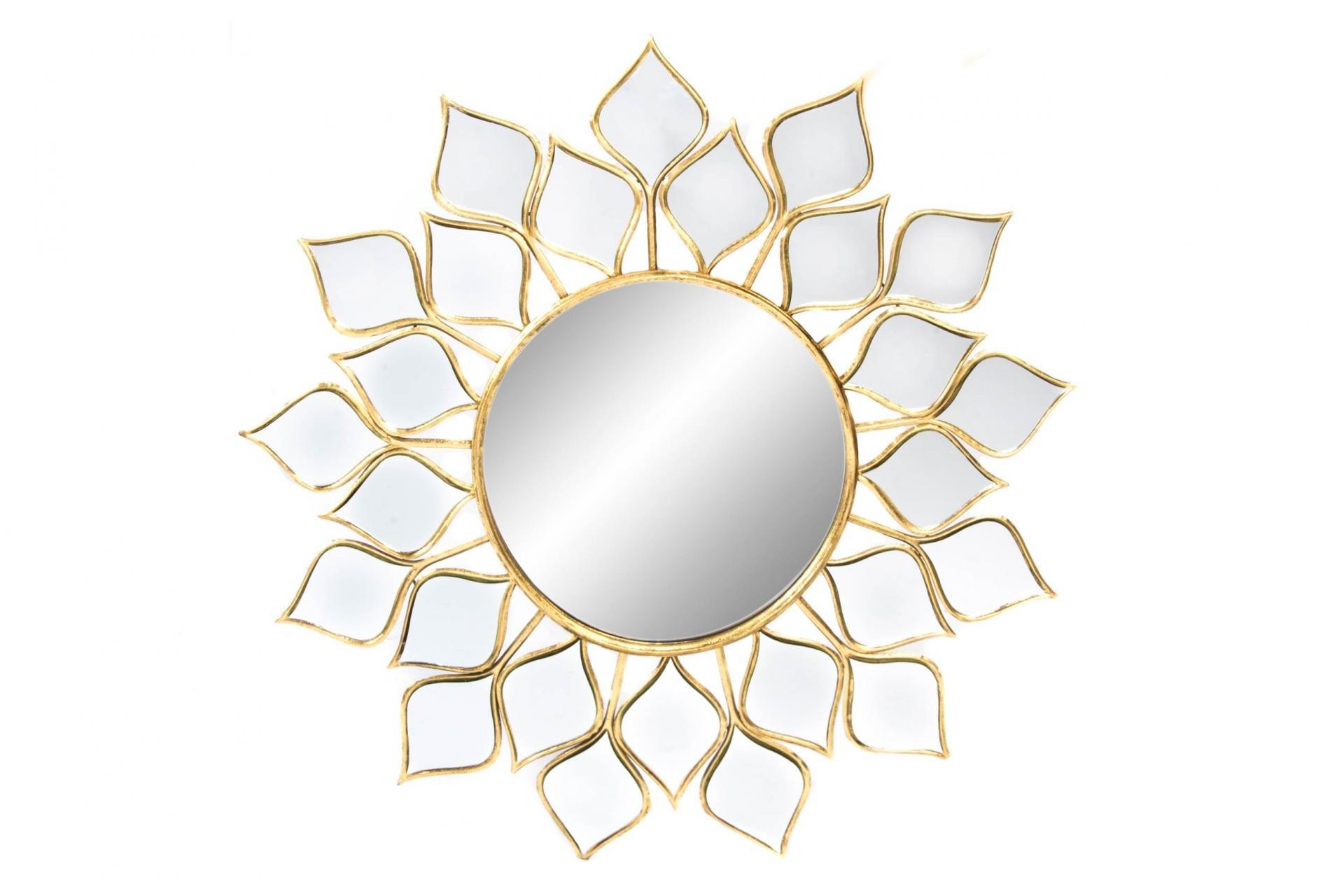 Espejo dorado metal