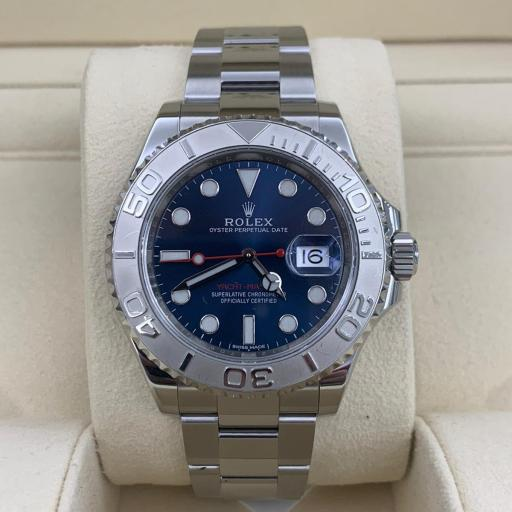 Rolex Yacht-Master 40mm Acero / Blue  set completo.