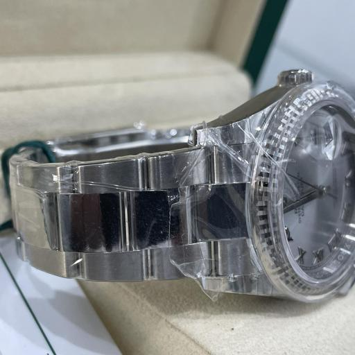 Rolex Datejust acero números Romanos  Bisel oro Blanco 18K Tarjeta Nueva  ref 116234. [1]