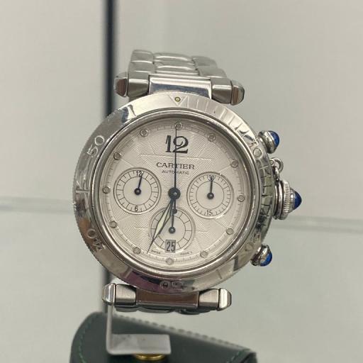 Cartier Pasha W31030h3 Cronógrafo