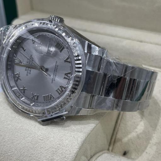 Rolex Datejust acero números Romanos  Bisel oro Blanco 18K Tarjeta Nueva  ref 116234. [2]