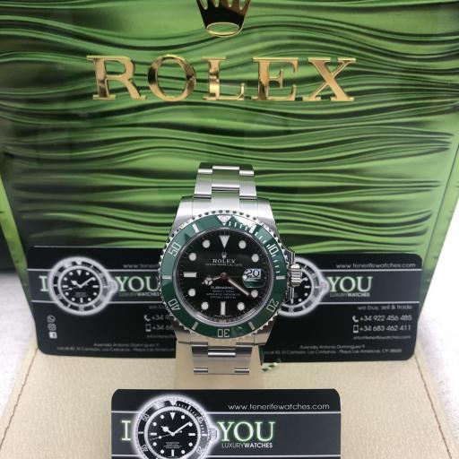 Rolex SUBMARINER date 116610LV cerámico ( HULK ) año 2014.