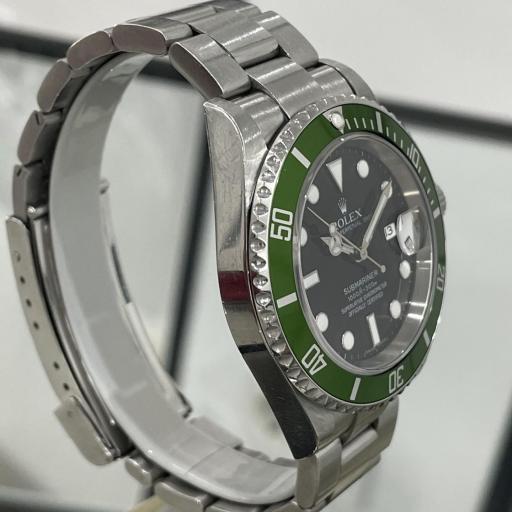 "Rolex Submariner LV ""Kermit"", Z series, NOT engraved, paper warranty Kermit Ref 16610Lv serial Z año 2006. [2]"