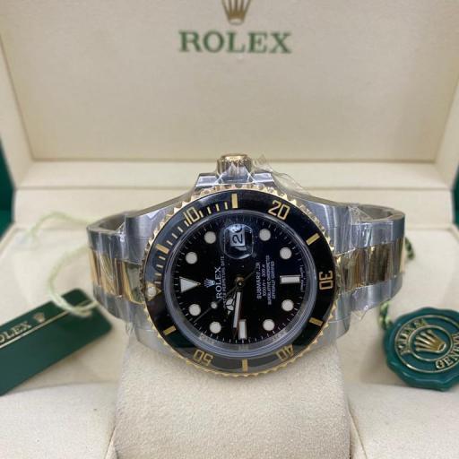Rolex submariner date Cerámica  acero oro dial y Esfera Negra   116613LN 2013 . [0]