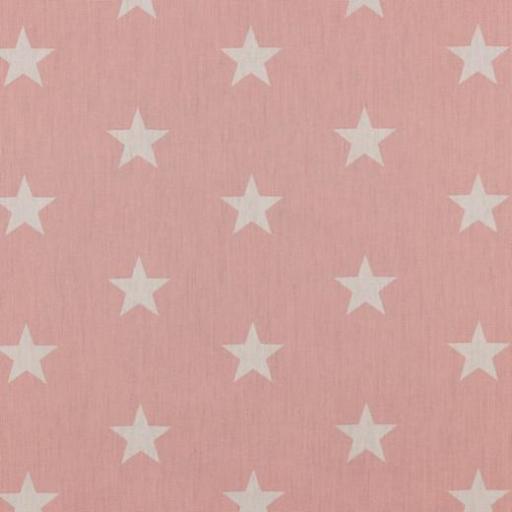 Popelin Old Rose Stars