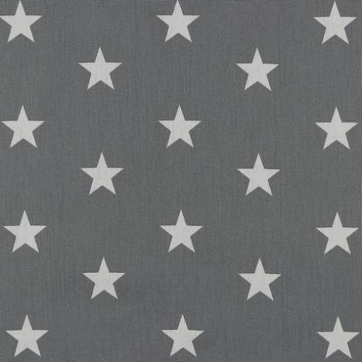 Popelin Grey Stars
