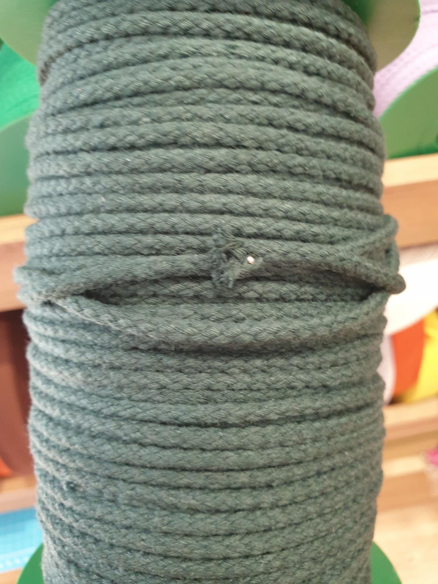 Cordón Algodón 4mm Verde Oscuro