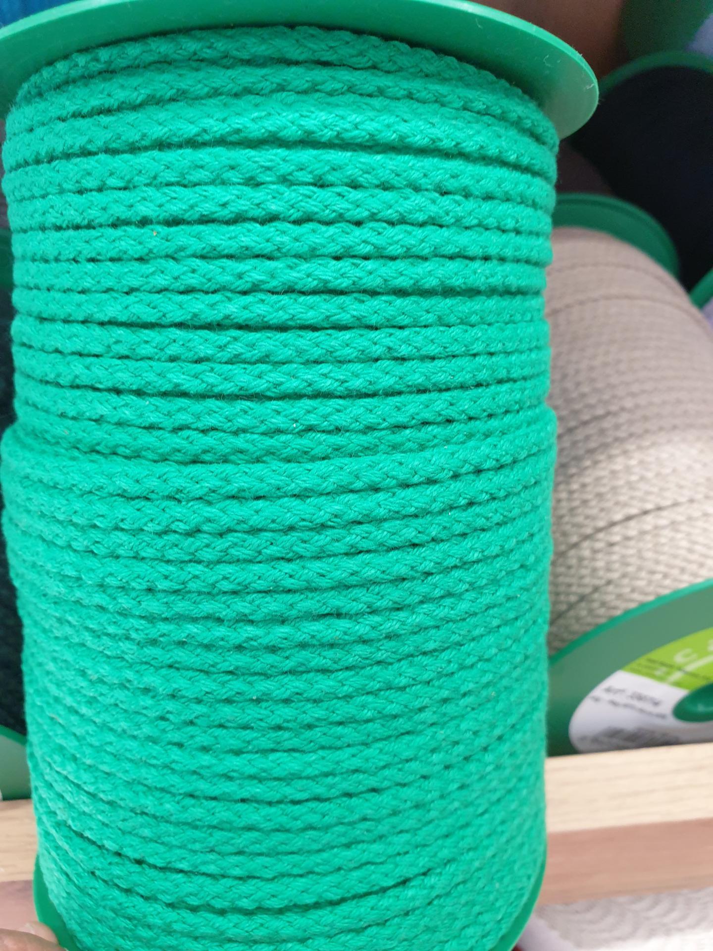 Cordón Algodón 4mm Verde Bosque