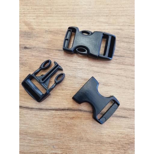 Cierres de plastico negros 20mm