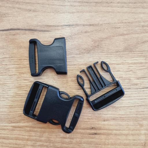 Cierres de plastico negros 30mm