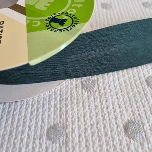 Bies de Algodón 3cm - Verde Botella 62