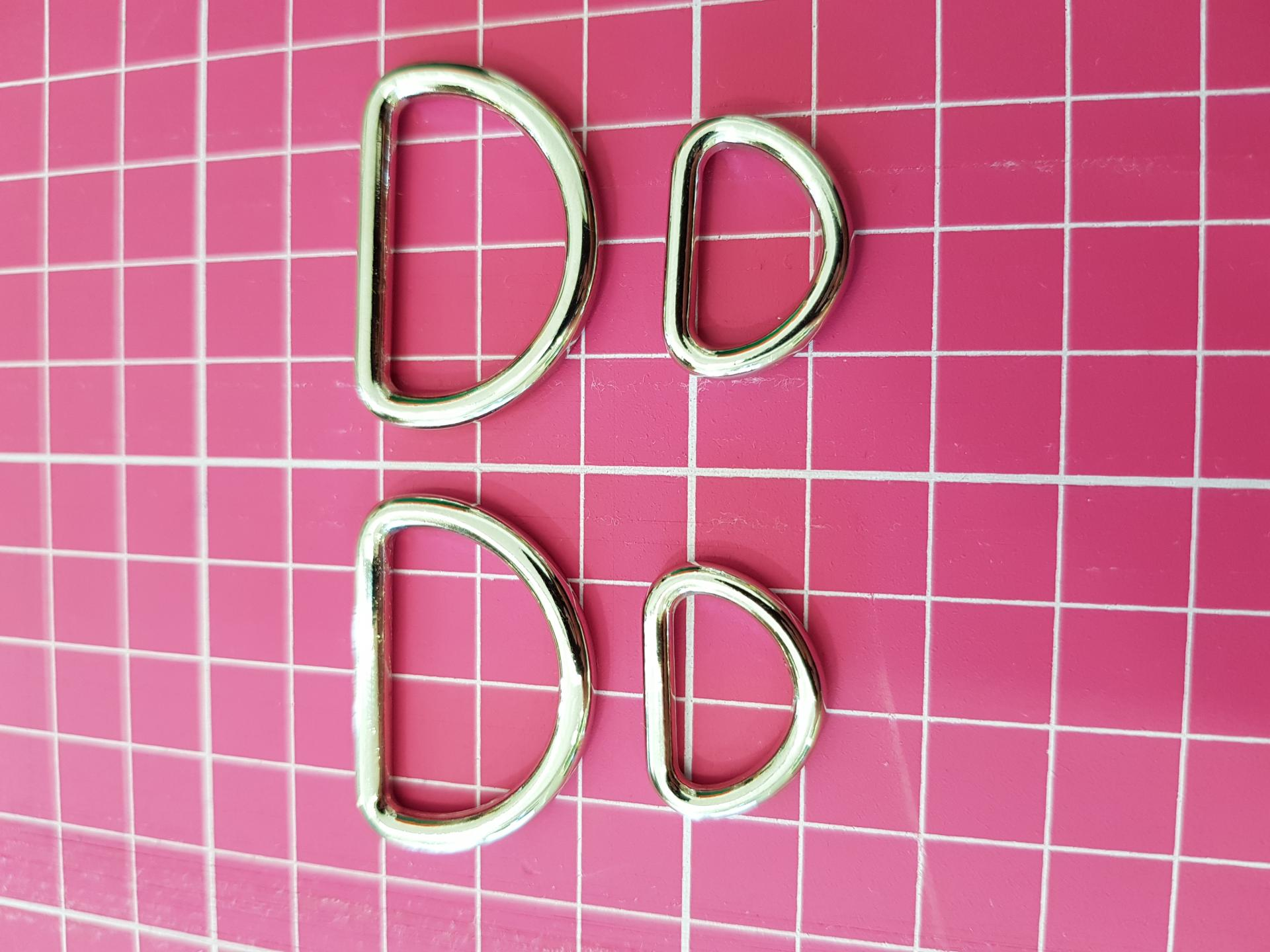 Cierres forma D - Niquel - Pack 2 unidades