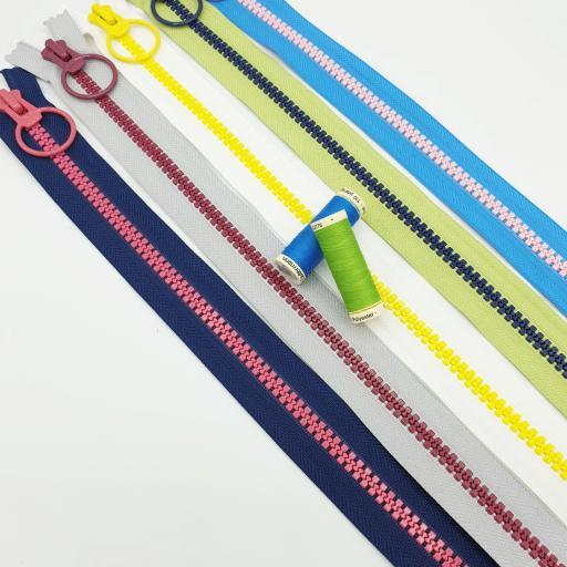 Cremalleras Maxi Bi-Colores - 55cm