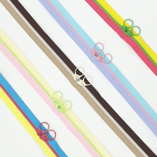 Cremalleras Bi-Colores - Doble Carro
