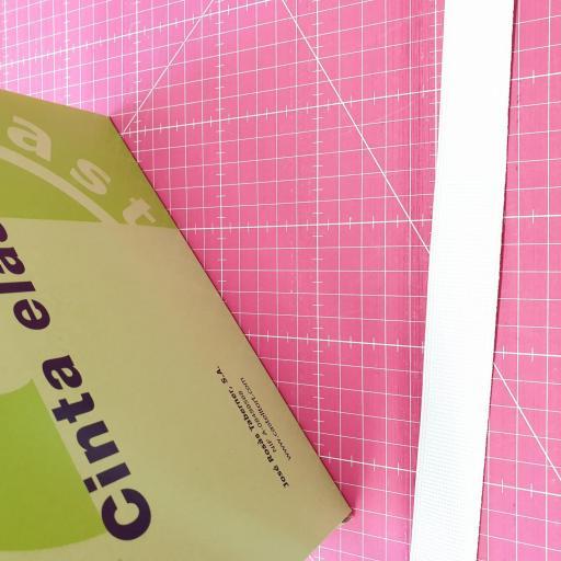 Goma Plana Cinturilla 25-22-18 mm Blanca [1]