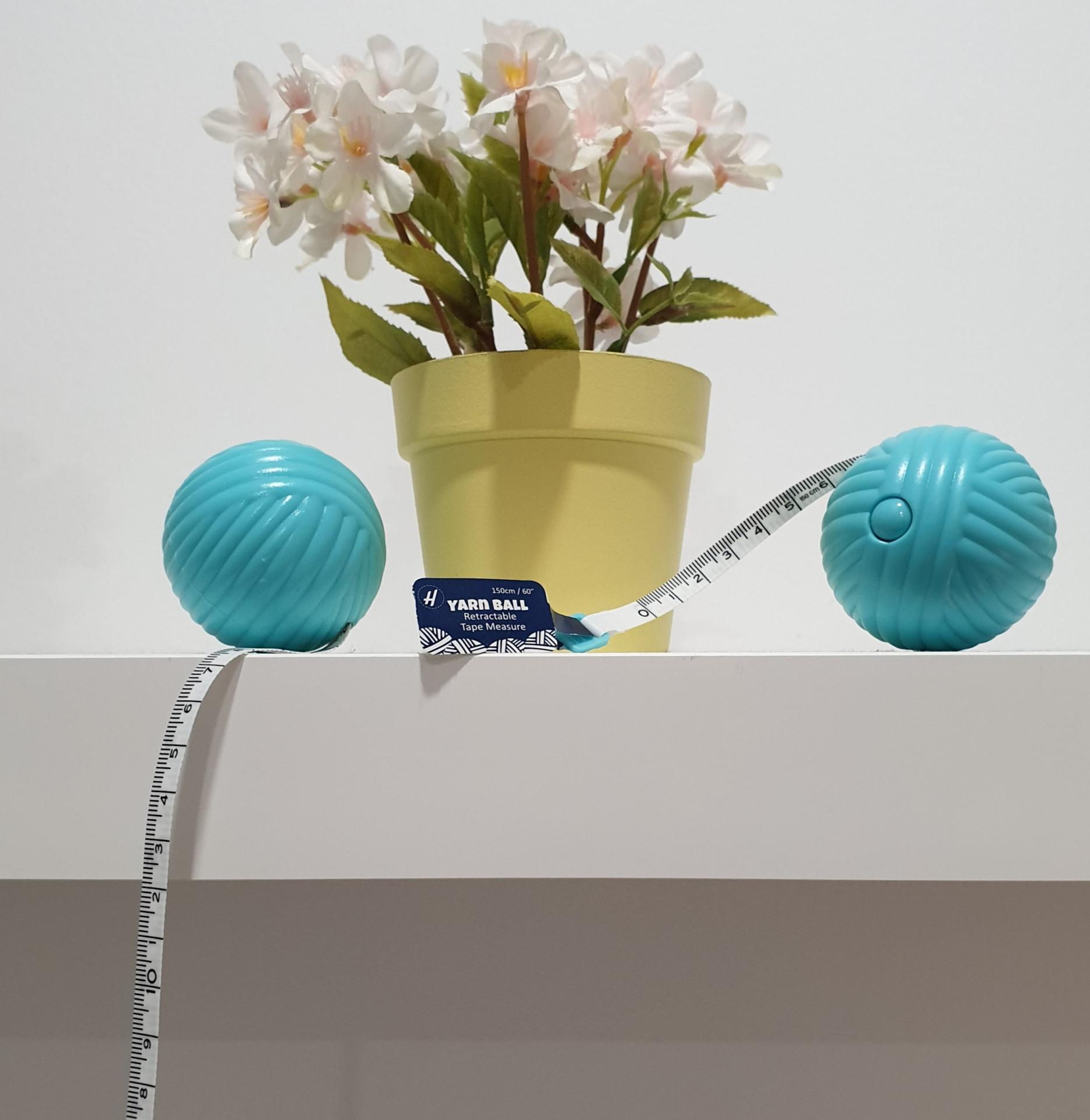 Cinta métrica Yarn Ball Ovillo - Automática