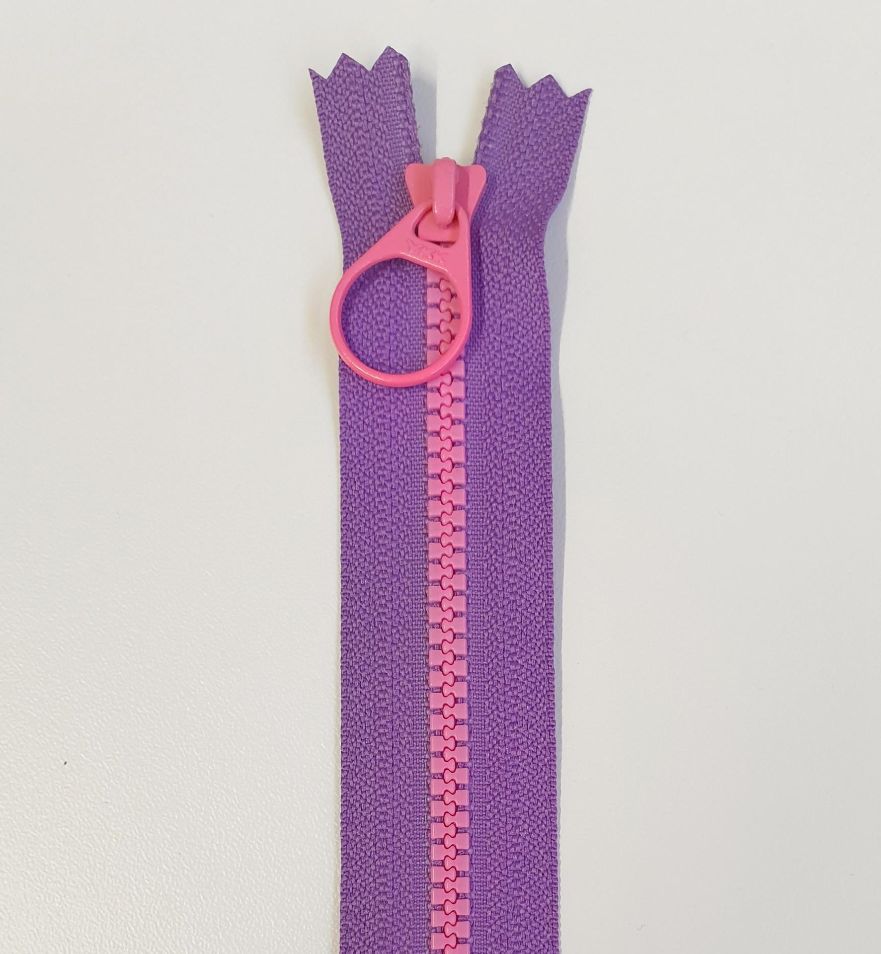 Cremallera Bi-Color 20cm Lila/Rosa