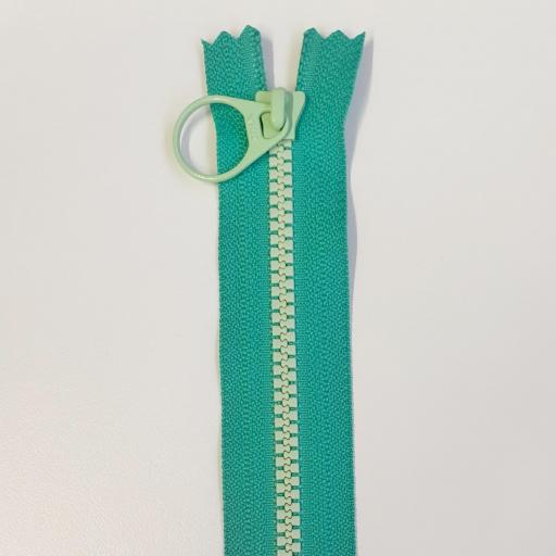 Cremallera Bi-Color 20cm Verde/Mint