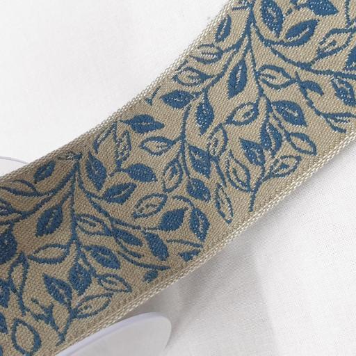 Cinta loneta cubrecosturas - Herbs on blue [1]