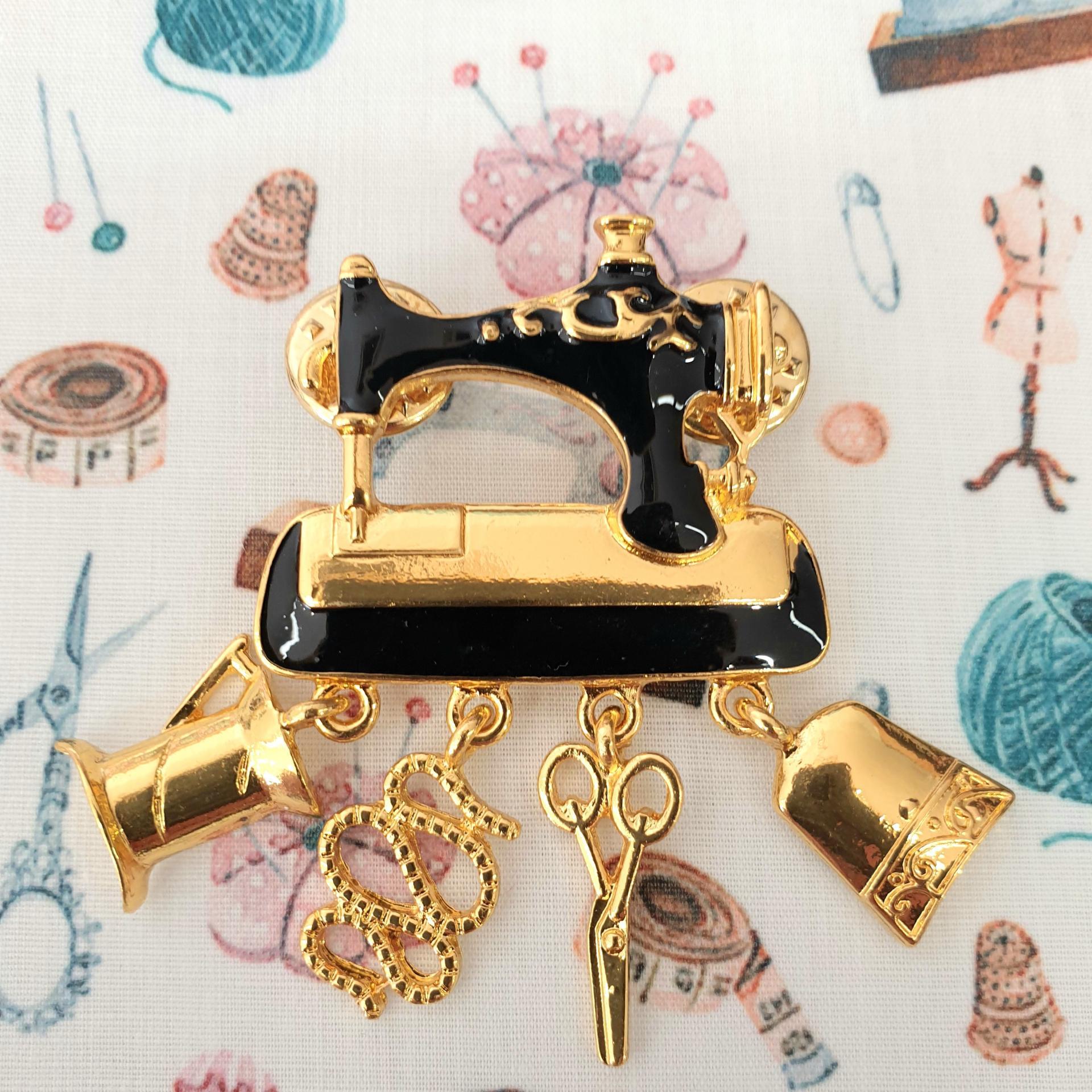 Pins de costura - Maquina de coser Gold